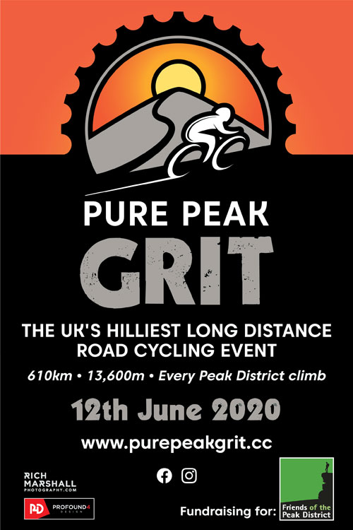Pure Peak Grit - the UK's hilliest long distance road cycling event